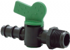 "Ball Valve Tap 1/2"" M Thread 16mm Barb"